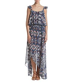 Sequin Hearts® Printed Popover Maxi Dress