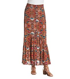 Living Doll® Flounce Button Front Maxi Skirt