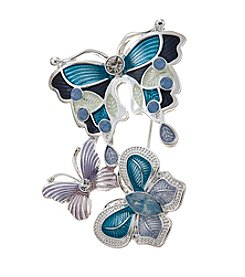 Napier® Box Butterfly Trio Pin