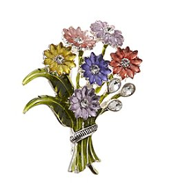 Napier® Boxed Flower Bouquet Pin