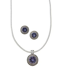 Napier® Swarovski® Necklace and Earrings Set