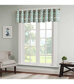 Madison Park Ashlin Diamond Printed Window Valance