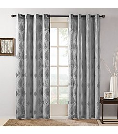 Madison Park Adele Sheer Ogee Jacquard Window Panel
