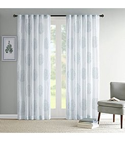 Madison Park Genia Sheer Branch Flocking Window Panel