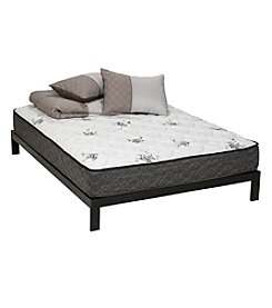Wolf Corporation Legacy Firm Hybrid Wrapped Coil Queen Latex Foam Mattress and Platform Set