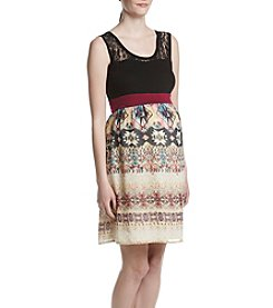 Three Seasons Maternity™ Lace Yoke Tank Dress