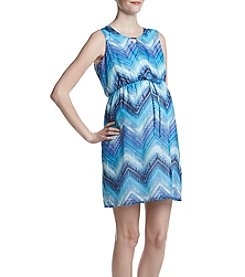 Three Seasons Maternity™ Keyhole Print Dress