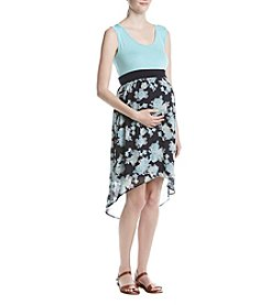 Three Seasons Maternity™ Tank Print High Low Skirt Dress