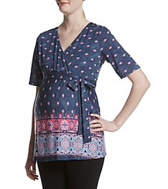Three Seasons Maternity™ Surplice Print Top