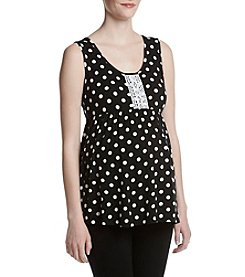 Three Seasons Maternity™ Crochet Trim Dot Tank