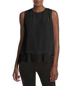 Calvin Klein Petites' Pleated Woven Top