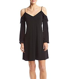 MICHAEL Michael Kors® Petites' Cold Shoulder Flounce Dress