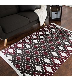Lavish Home Chindi Trellis Accent Rug