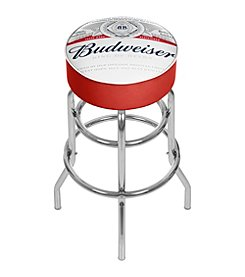 Budweiser® Chrome Padded Bar Stool with Swivel