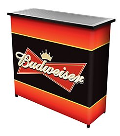 Budweiser® Metal 2 Shelf Portable Bar Table w/ Carrying Case