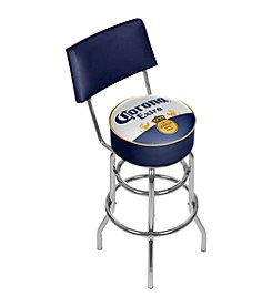 Corona® Padded Swivel Bar Stool with Back
