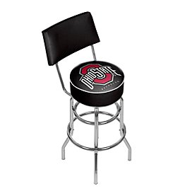 Trademark Gameroom NCAA® The Ohio State University Black Padded Bar Stool with Back