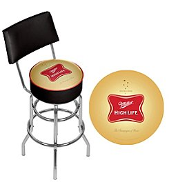 Miller High Life® Padded Bar Stool with Back