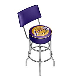NBA® Los Angeles Lakers Padded Swivel Bar Stool with Back