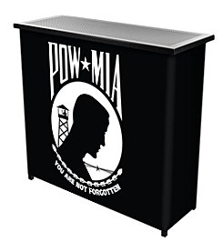 Trademark Gameroom POW Metal 2 Shelf Portable Bar Table w/ Carrying Case