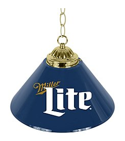Miller Lite® Retro Logo 14 inch Single Shade Brass Bar Lamp