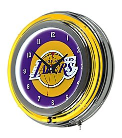 NBA® Los Angeles Lakers Chrome Double Ring Neon Clock