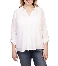 Lucky Brand® Plus Size Woven Gauze Mixed Top