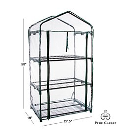 Pure Garden 3 Tier Mini Greenhouse with 3 Shelves