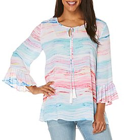 Rafaella® Seaside Stripe Bell Sleeve Top