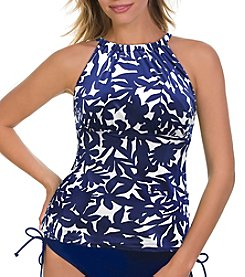 Caribbean Joe® Adjustable High Neck Tankini Top