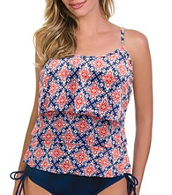 Caribbean Joe® Three Tier Tankini Top