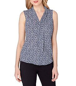 Tahari ASL® Sleeveless Floral Top
