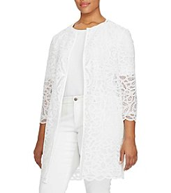 Lauren Ralph Lauren® Plus Size Lace Open-Front Duster Jacket