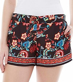 A. Byer Floral Pull On Shorts
