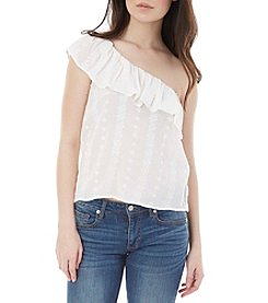 A. Byer One Shoulder Popover Top