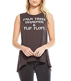 Chaser® Palm Trees Diamonds And Flip Flops Tee