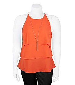 A. Byer Plus Size Tier Tank