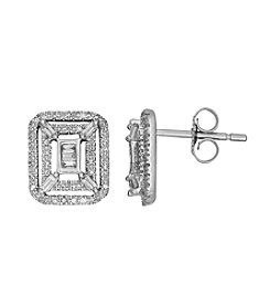 10K White Gold 0.37 ct. t.w. Diamond Earrings