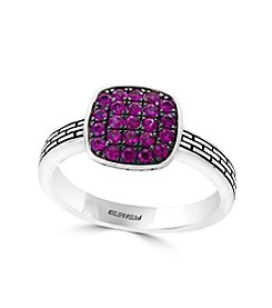Effy® Sterling Silver Genuine Ruby Ring