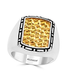 Effy® Men's 925 Collection Sterling Silver Gold Plated Ring