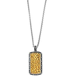 Effy® Sterling Silver and Gold Pendant