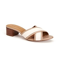 COACH MURIELLE BLOCK HEEL SLIDE SANDALS