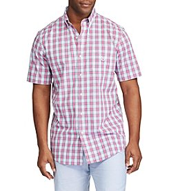 Chaps® Men's Short Sleeve Tattersall Button Down Shirt