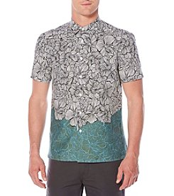 Perry Ellis® Men's Luau Flower Print Button Down Shirt
