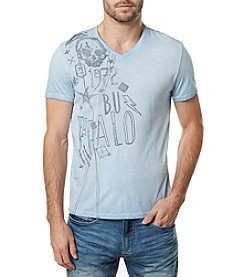 Buffalo by David Bitton Men's Short Sleeve V-Neck Graphic Tee