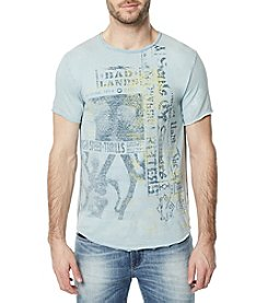 Buffalo by David Bitton Men's Bad Lands Graphic Crew Neck Tee