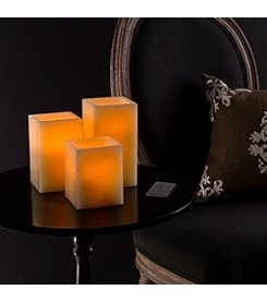Lavish Home 3pc. Square Flameless Candle Set with Remote