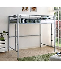 W. Designs Premium Metal Full Size Loft Bed