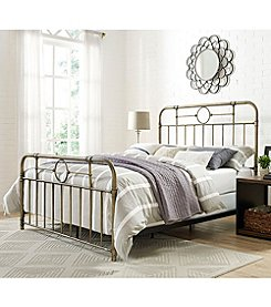 W. Design Queen Size Metal Pipe Bed
