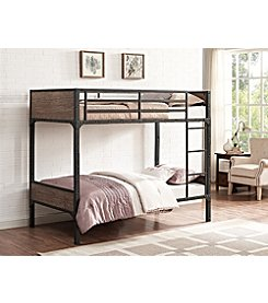 W. Design Twin-Over-Twin Rustic Wood Bunk Bed